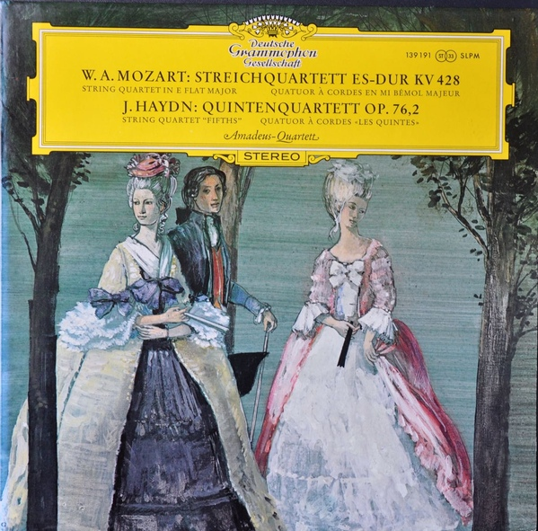 Mozart: String Quartet in E Flat Major KV 428 Haydn: String Quartet Fifths Op 76 2