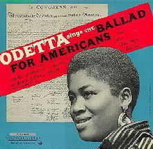 Odetta Sings The Ballad For Americans And Other American Ballads