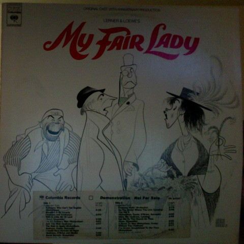 Lerner And Loewe – My Fair Lady: Original Cast - 20th Anniversary Production