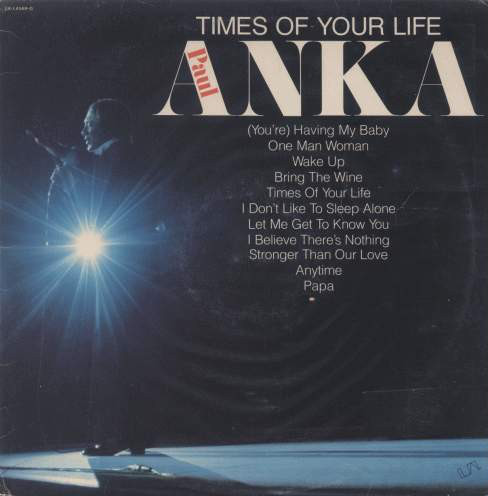 Paul Anka Times+Of+Your+Life LP