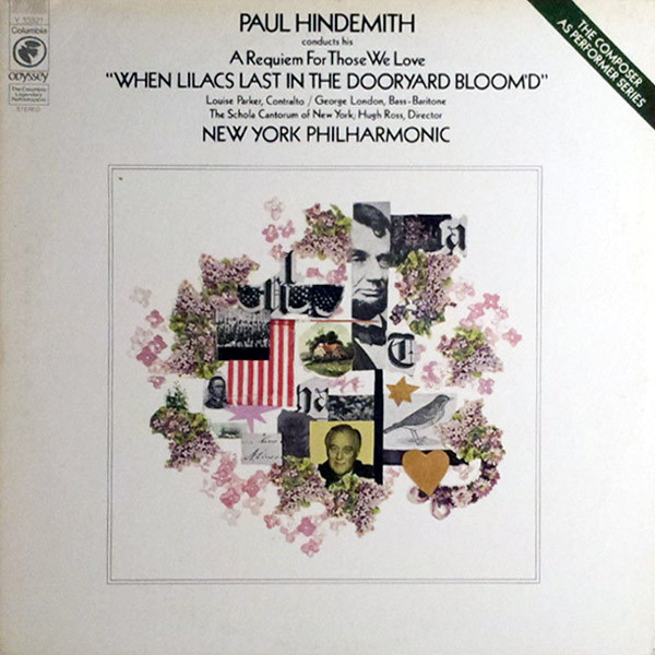 Paul Hindemith Conducts His A Requiem For Those We Love ''When Lilacs Last In The Dooryard Bloom'd''