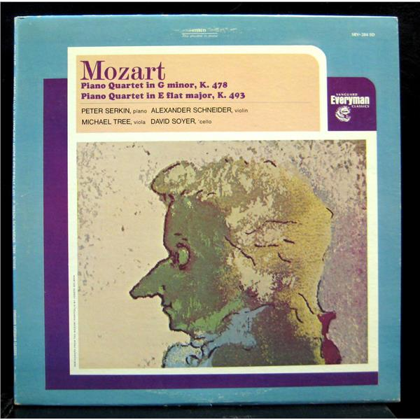 Mozart: Piano Quartet in G minor K 478/Piano Quartet in E Flat major K 493
