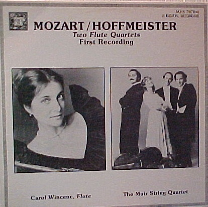 Mozart/Hoffmeister Two Flute Quartets - First Recording