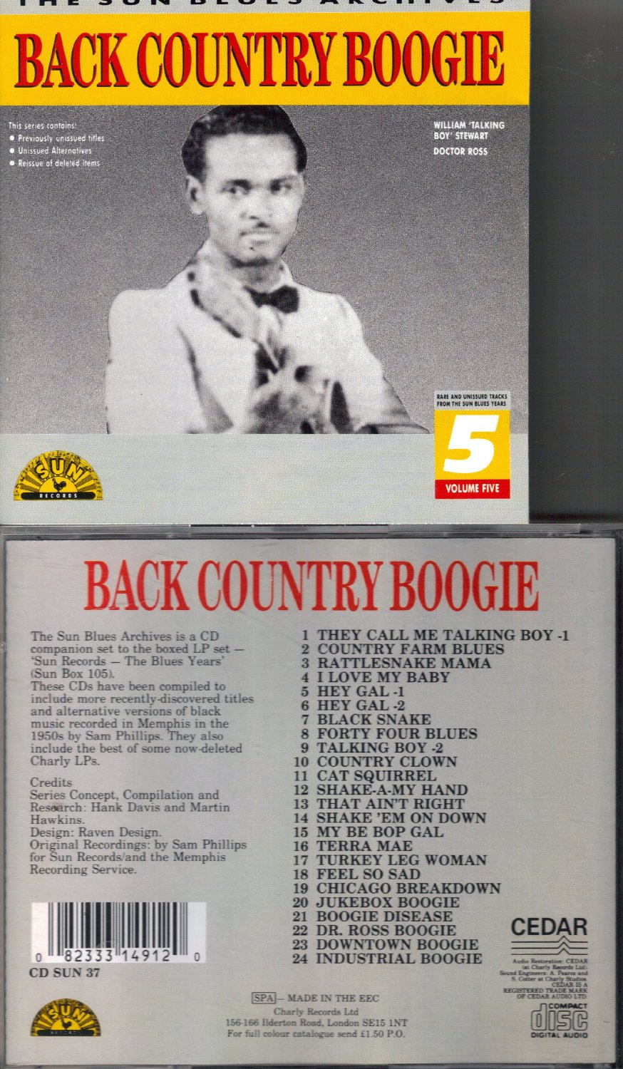 Back Country Boogie: The Sun Blues Archives, Rare and Unissued Tracks From the Sun Blues Years, Vol. 5
