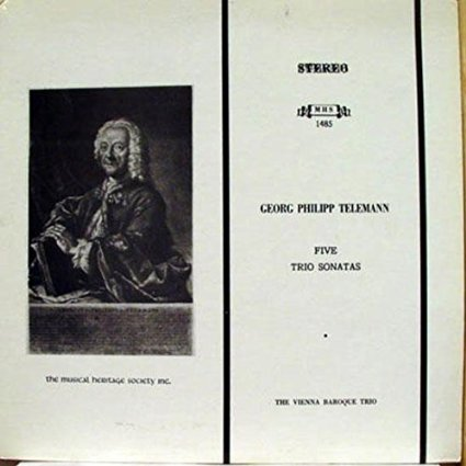 Georg Philipp Telemann Five Trio Sonatas