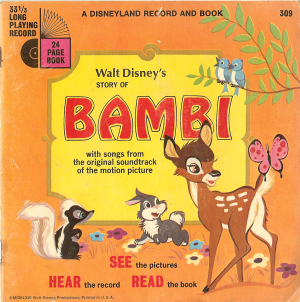 Walt Disney's Story of Bambi With Songs From The Original Soundtrack of The Motion Picture