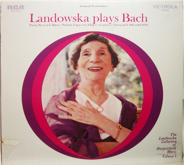 Landowska Plays Bach Volume 1